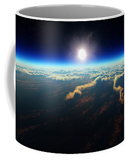 Earth Sunrise From Outer Space Coffee Mug