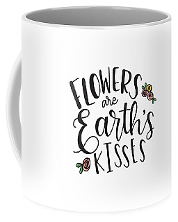 Coffee Mug featuring the mixed media Earths Kisses by Nancy Ingersoll