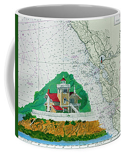 East Brother Island Lighthouse Coffee Mug by Mike Robles