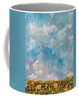Coffee Mug featuring the painting East Field Seedlings by Judith Rhue
