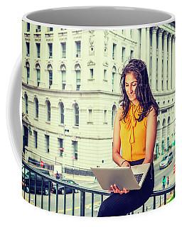 East Indian American Businesswoman In New York Coffee Mug