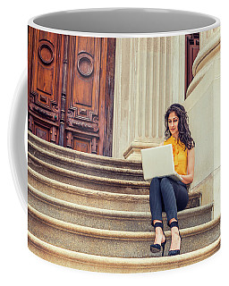 East Indian American College Student Studying In New York Coffee Mug