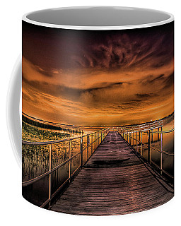 East Lake Pier Topaz Coffee Mug