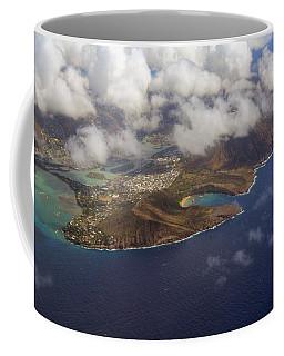 East Oahu From The Air Coffee Mug