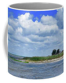 East Point Lighthouse At High Tide Coffee Mug