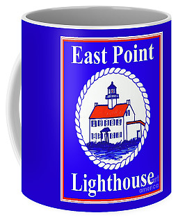 East Point Lighthouse Road Sign Coffee Mug by Nancy Patterson