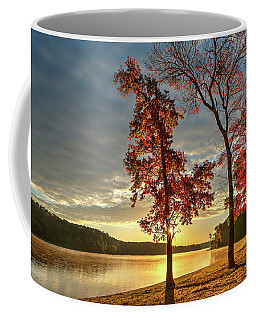 East Texas Autumn Sunrise At The Lake Coffee Mug
