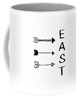East With Arrows- Art By Linda Woods Coffee Mug
