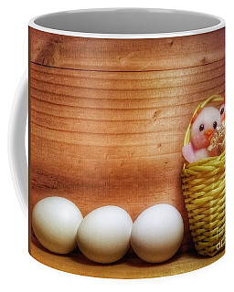 Easter Basket Of Pink Chicks With Eggs Coffee Mug
