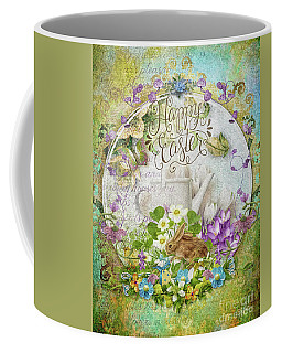 Coffee Mug featuring the mixed media Easter Breakfast by Mo T