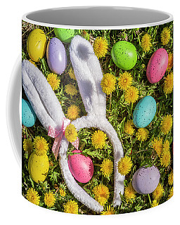 Easter Eggs And Bunny Ears Coffee Mug