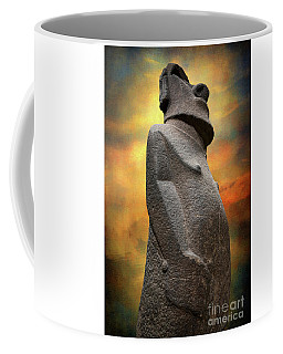 Coffee Mug featuring the photograph Easter Island Moai by Adrian Evans