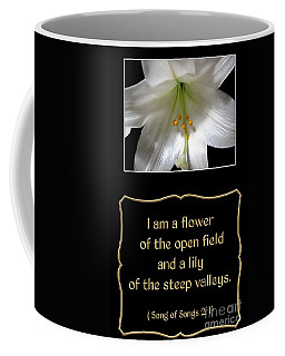 Easter Lily With Song Of Songs Quote Coffee Mug