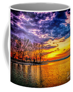 Coffee Mug featuring the photograph Easter Sunset At Riverview Beach Park by Nick Zelinsky