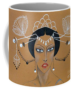 Eastern Elegance -- Whimsical Asian Woman Coffee Mug