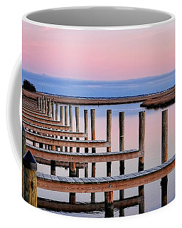 Coffee Mug featuring the photograph Eastern Shore On The Docks by Lara Ellis