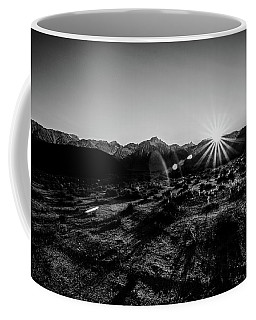 Eastern Sierra Sunset In Monochrome Coffee Mug