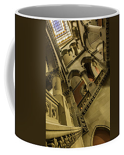 Coffee Mug featuring the photograph Eastern Staircase by Brad Wenskoski