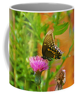 Eastern Tiger Swallowtail Butterfly On Thistle Coffee Mug