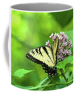 Eastern Tigerswallowtail On Milkweed Coffee Mug