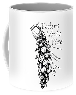 Eastern White Pine Cone On A Branch Coffee Mug