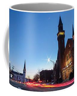 Coffee Mug featuring the photograph Easthampton Crescent Moon by Sven Kielhorn