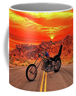 Coffee Mug featuring the photograph Easy Rider Chopper by Louis Ferreira