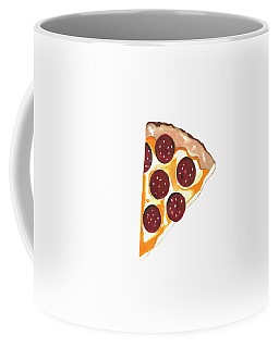 Coffee Mug featuring the mixed media Eat Pizza by Kathleen Sartoris