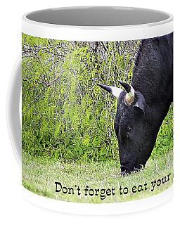 Coffee Mug featuring the digital art Eat Your Greens by Ellen Barron O'Reilly