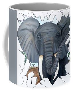 Eavesdropping Elephant Coffee Mug