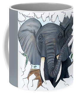 Eavesdropping Elephant Coffee Mug