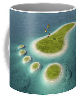 Eco Footprint Shaped Island Coffee Mug