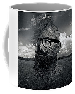 Eco Hipster Black And White Coffee Mug