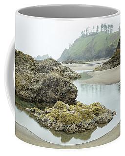 Coffee Mug featuring the photograph Ecola Tidepool by Tim Newton