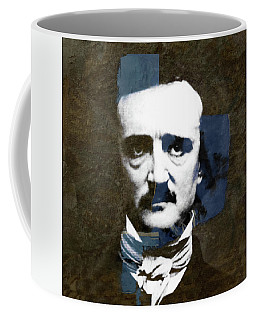 Coffee Mug featuring the mixed media Edgar Allan Poe  by Paul Lovering