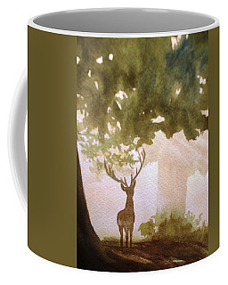 Edge Of The Forrest Coffee Mug by Marilyn Jacobson