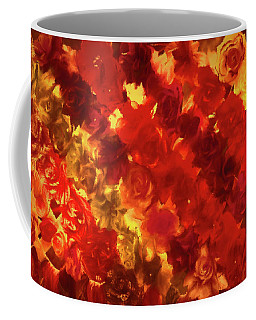 Edgy Flowers Through Glass Coffee Mug