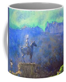 Edinburgh Castle Horse Statue Coffee Mug by Richard James Digance