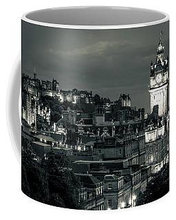 Edinburgh In Black And White Coffee Mug