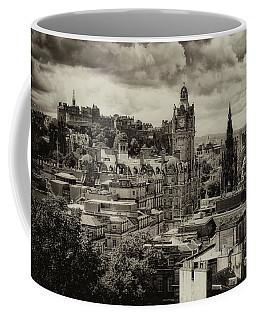 Coffee Mug featuring the photograph Edinburgh In Scotland by Jeremy Lavender Photography