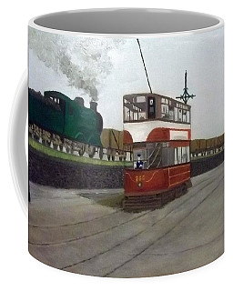 Edinburgh Tram With Goods Train Coffee Mug