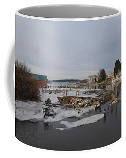 Coffee Mug featuring the photograph Edison Slough In Winter by Karen Molenaar Terrell