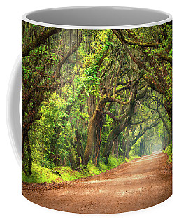 Edisto Island South Carolina Dirt Road Landscape Charleston Sc Coffee Mug