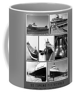 Edmund Fitzgerald Black And White Coffee Mug