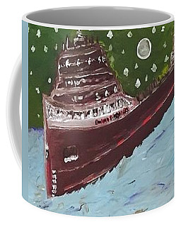 Coffee Mug featuring the painting Edmund Fitzgerald by Jonathon Hansen