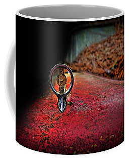 Coffee Mug featuring the photograph Edsel Emblem by Glenda Wright