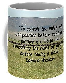 Edward Weston Quote Coffee Mug