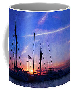 Egg Harbor Marina Sunset Coffee Mug