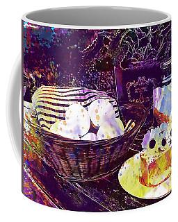 Coffee Mug featuring the digital art Egg Milk Butter Out Garden Herbs  by PixBreak Art
