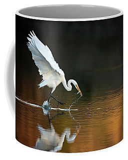 Egret At Sunset Coffee Mug